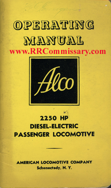 rb-1675 alco c420 / c424 operating manual (sb) (moderate used  condition, name inside cover, otherwise no markings) alco, 1963 $45 00  rb-3963 alco c420